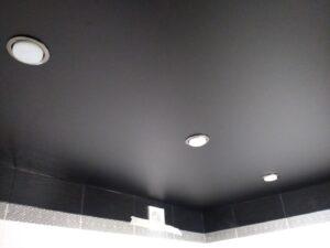 Матовый натяжной потолок в ванную комнату